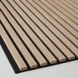 Ribbvägg ek, Classic Oak, svart RecoSilent (akustikfilt)